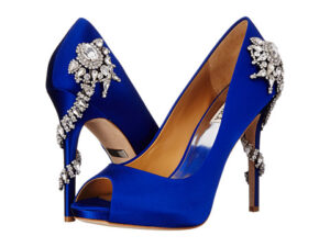 badgley mischka blue shoes