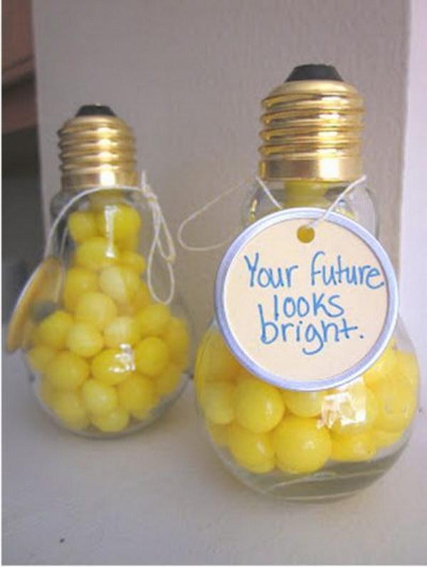 light bulb favor graduation