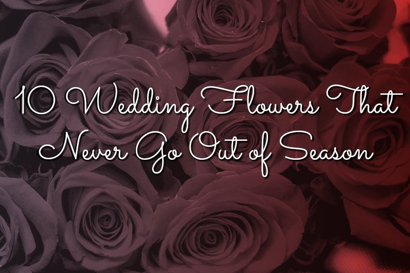 10 Wedding Flowers That Never Go Out of Season